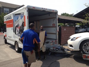 Movers Unloading a Rental Truck