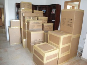 Packing Boxes and Moving