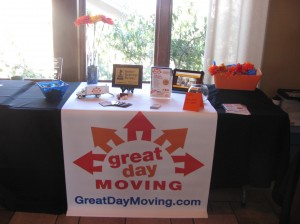Great Day Moving Display Table