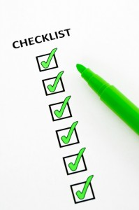 Checklist for Getting Settled in your New Home