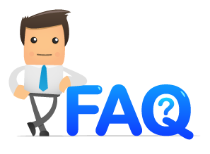 Dude leaning on 'FAQ'