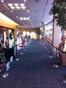 View of the Trees and Wreaths